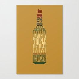 Typographical Jameson Canvas Print