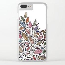 Floral Leaf Illustration *P07008 Clear iPhone Case