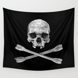 Jolly Roger Banner Wall Tapestry