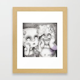 """The Things We Share As Friends"" (Spongebob and Patrick) Framed Art Print"
