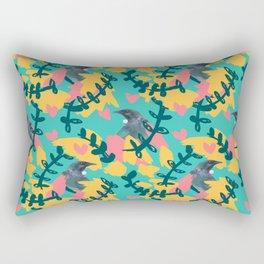 Blocky Tui Heart Print Rectangular Pillow