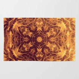Abstract earth tone mandala Rug