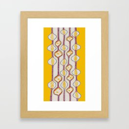Stitches - Growing bubbles Framed Art Print