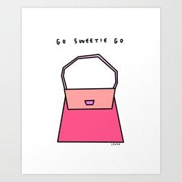 Go Sweetie Go! - Girl Power Illustration Art Print