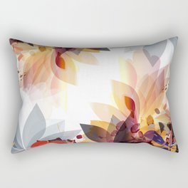 Abstract floral illustration with colorful foliage Rectangular Pillow
