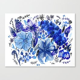 Blue flowers galore Canvas Print