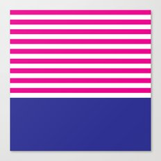 Stripes - Indigo & Pink Canvas Print