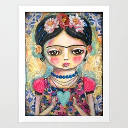 The heart of Frida Kahlo  Art Print