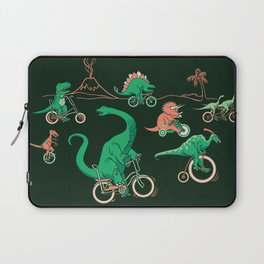 Dinosaurs on Bikes! Laptop Sleeve