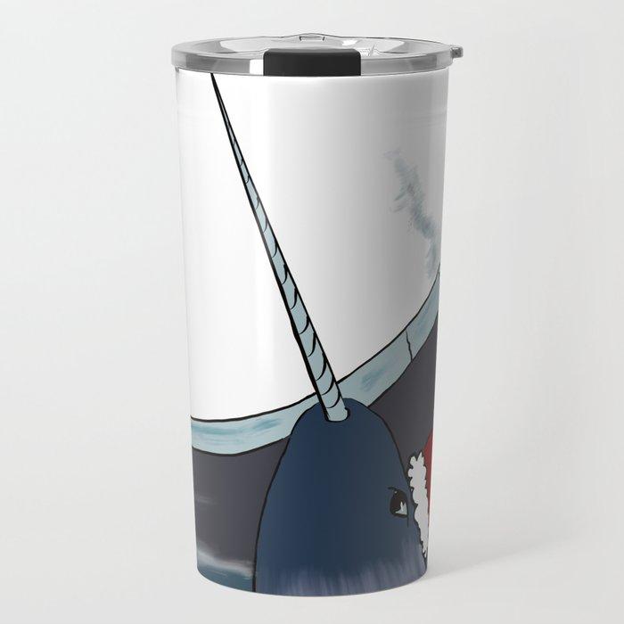A Narwhal For Christmas Travel Mug