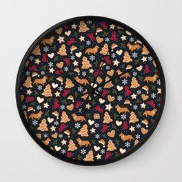 Gingerbread pups | Corgi Wall Clock