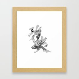 KungFu Zodiac - Tiger and Rabbit Framed Art Print