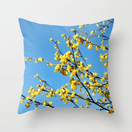 boom boom bloom Throw Pillow