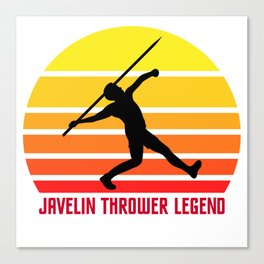 Javelin Thrower Legend Gift T-Shirt Canvas Print