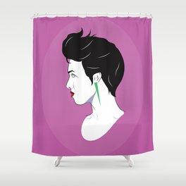 BianCamée Rose Shower Curtain
