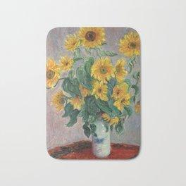 Claude Monet Bouquet Of Sunflowers 1881 Bath Mat