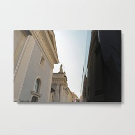 walkin through bressanone Metal Print
