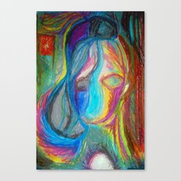 Music In Oil Pastel - Who You Really Are Canvas Print