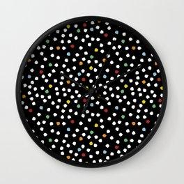 Blossom Petals Black Wall Clock
