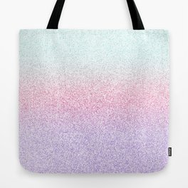Colorful Purple, Pink and Green Watercolor Trendy Glitter Mermaid Pastel Iridescent Tote Bag