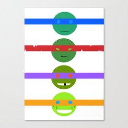 Turtle faces Canvas Print