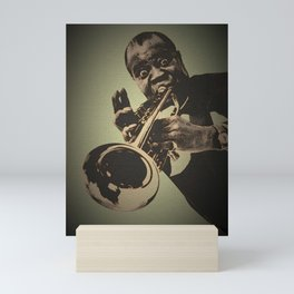 Society6 1000 Elements Of Louis - Louie - Daniel Armstrong Satchmo - Satch - Pops - Pop Sketch-Art 6 Mini Art Print