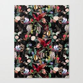 Floral and Birds IX Canvas Print