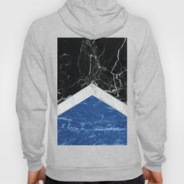 Arrows - Black Granite, White Marble & Blue Granite #227 Hoody