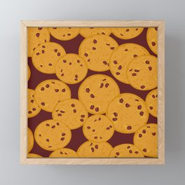 Chocolate chip cookie Framed Mini Art Print