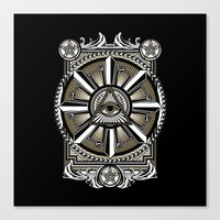 all seeing eye Canvas Prints featuring All Seeing Eye by Pancho the Macho