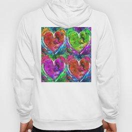 Colorful Pop Hearts Love Art By Sharon Cummings Hoody