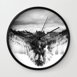 Owl Mid Flight Wall Clock