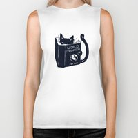 cats Biker Tanks featuring World Domination For Cats by Tobe Fonseca