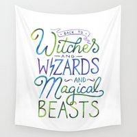 snape Wall Tapestries featuring AVPM - Back To Hogwarts by IndigoEleven