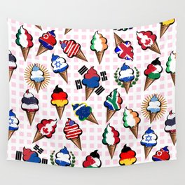 Ice cream flags Wall Tapestry