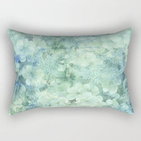 fleurettes and soft blue Rectangular Pillow