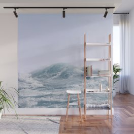 Waves and Sunset   Happy Summer   Photography   Ocean Beach Vibes Wall Mural