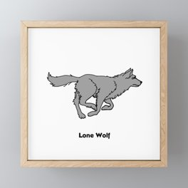 Lone Wolf Framed Mini Art Print
