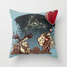eye love u UU U u u Throw Pillow
