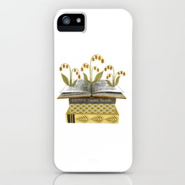 floral reading i iPhone Case