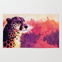 cheetah Area & Throw Rugs featuring Cheetah by Fallen Apple Designs