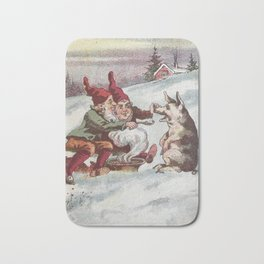 Christmas Card from Sweden, 1800s Bath Mat