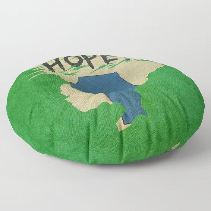 Hope!! (time machine ) Floor Pillow
