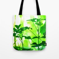 clover Tote Bags featuring Clover by Bella Mahri-PhotoArt By Tina