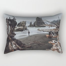 Olympic Coastline Rectangular Pillow