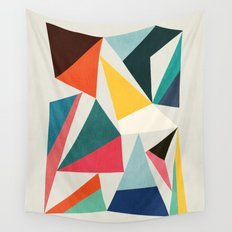 Collection of pointy summit Wall Tapestry