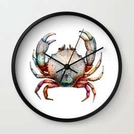 Crab Rainbow Wall Clock