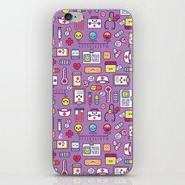 Proud To Be a Nurse Pattern / Purple iPhone Skin