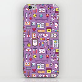 Proud To Be a Nurse Pattern / Purple iPhone Skin
