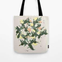 Cacti Explosion - Abstract Digital Print Tote Bag